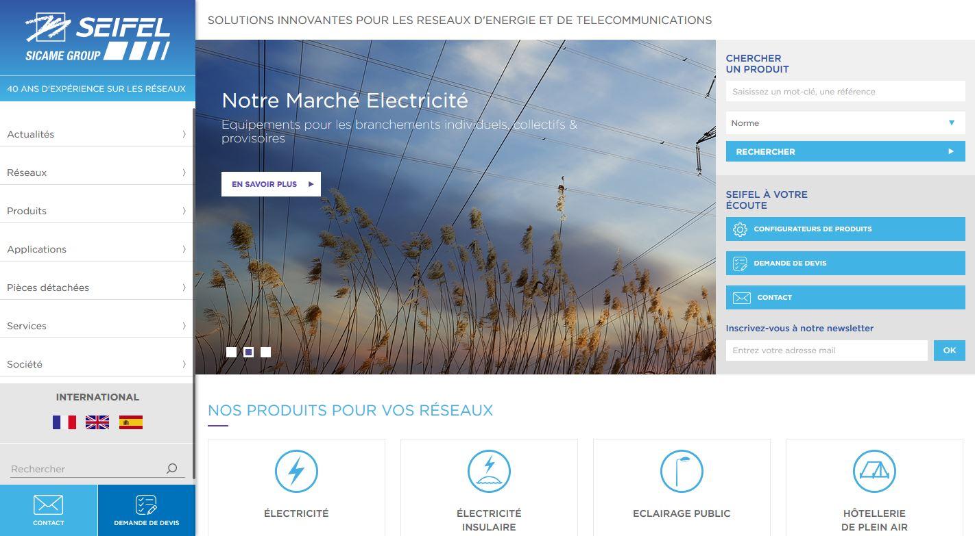Mise en ligne du nouveau site portail e-catalogue de SEIFEL, réalisé par 3c-evolution