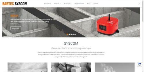 visuel page d'accueil du site SYSCOM